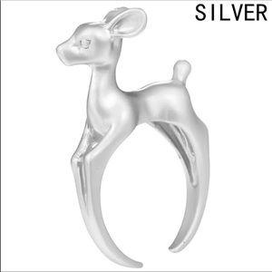 Deer Fawn Reindeer Bambi adjustable New SilverRing